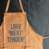 "DRESSSEN   WPAB4  DAY USE W POCKET  APRON   ""LOVE ""MEAT""TENDER"""
