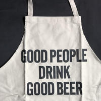 "⭕️[新型エプロン] DRESSSEN    DAY USE W POCKET  APRON   WPAN3 ""GOOD   PEOPLE DRINK GOOD   BEER"" ※色サンドベージュです"