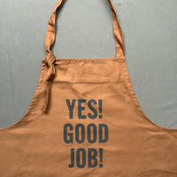 """⭐️オンラインストア限定販売 DRESSSEN PR30 THE PROFESSIONAL APRON"""" YES!GOOD JOB!"""" (BROWNカラー)"""