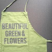 "DRESSSEN DR(GRN)3 ""BEAUTIFUL GREEN &FLOWERS""APRON  2018年 9月29日 新発売!"
