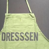 "『DRESSSEN 公式オンラインストア限定発売』DRESSSEN DR(GRN)12 ""DRESSSEN ""APRON  GREEN COLOR"