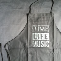 "DRESSSEN  ADULT APRON   DB(BLK)4 ""TIME LIFE MUSIC ""BLACK COLOR"