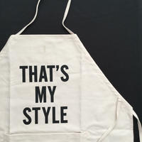 "DRESSSEN DS12 D→SLIDE APRON ""THAT'S MY STYLE"""