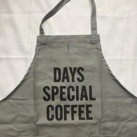 """[限定発売]DRESSSEN WPAGR5 DAY USE W POCKET  APRON   """"DAYS SPECIAL COFFEE""""(GREY COLOR)"""