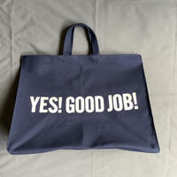 "DRESSSEN   MBXLN3 MARKET  BAG  XLARGE ""YES  GOOD  JOB/ DRESSSEN    (dark  navy color)"