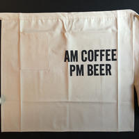 "DRESSSEN LWL12 lower wall long  LWL ""AM COFFEE PM BEER""    (腰巻きエプロンです) 2019年4月新発売です"