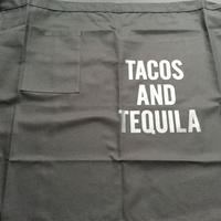 "DRESSSEN  lower wall long LWLB7"" TACOS AND TEQUILA""BLACK COLORAPRON ⭕️オンラインストア限定発売です。"