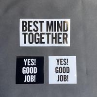 DST2 DRESSSEN ステッカー3枚セット (YES!GOOD JOB(black、white)、BESTMIND TOGETHER)