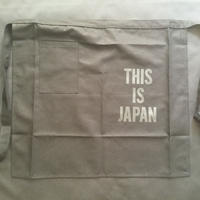 "[新色]DRESSSEN  lower wall long LWLB3""THIS IS JAPAN"" APRON BLACK COLOR"