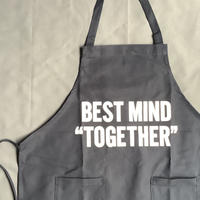 "[限定販売]DRESSSEN  WPADN6 DAY USE W POCKET  APRON   ""BEST MIND TOGETHER""(生成りロゴ)ダークネイビー"