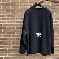 "新発売! DSS2 DRES""SPECIAL""SSEN  SWEAT  SHIRTS  YES/NO THANKYOU(BLACK COLOR)   生成りロゴ"