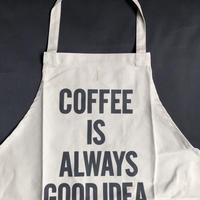 """⭕️[新型エプロン] DRESSSEN    DAY USE W POCKET  APRON   WPAN4""""COFFEE IS ALWAYS GOOD   IDEA""""※こちらの色はサンドベージュです"""