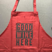 """DRESSSEN  DRVBOAD6  REVERSIBLE  APRON""""GOOD WINE HERE/RED WHITE OTHER GOOD WINE """"リバーシブルエプロン)"""