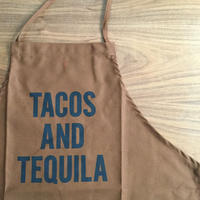 "⭕️ [先行発売] DRESSSEN DR(BRN) APRON  "" TACOS AND TEQUILA!""  BROWN  COLOR※オンラインストア先行販売"