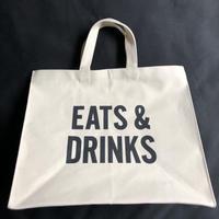 "DRESSSEN  MARKET BAG (LARGE)  MBAL3  ""EATS  & DRINKS ※こちらのデザインは公式オンラインストアのみの販売となります。"
