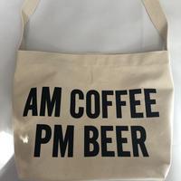 "DRESSSEN  SHOULDER BAG DB ""AM COFFEE PM BEER"""