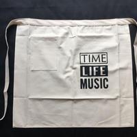 "DRESSSEN lower wall long  LWL7  ""TIME LIFE MUSIC""   (腰巻きエプロンです)"