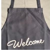 "[限定販売]DRESSSEN   WPADN4 DAY USE W POCKET  APRON   ""welcome"" DARK NAVY COLOR"