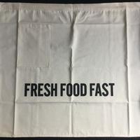 "DRESSSEN lower wall long  LWL ""FRESH FOOD FAST""   (腰巻きエプロンです)"