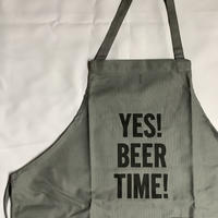"[限定発売]DRESSSEN WPAGR1 DAY USE W POCKET  APRON   ""YES!BEER TIME!(GREY COLOR)"
