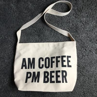 "DRESSSEN  SHOULDER BAG DB ""AM COFFEE PM BEER"""
