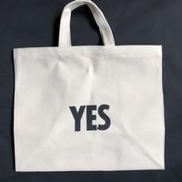 "⭕️新発売  DRESSSEN  MARKET BAG (LARGE)  MBAL10  ""YES/NO THANK YOU※片面YESのプリント、片面NO THANK YOUのプリントです。"