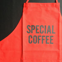 """DRESSSEN DR(RED) 7""""SPECIAL COFFEE"""" APRON  RED COLOR"""