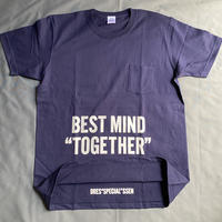 "⭐️限定販売 DRESSSEN  DSST99  DRES""SPECIAL""SSEN    ""BEST MIND TOGETHER"" T-SHIRTS (生成りロゴ) ネイビーカラー"
