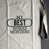 "DRESSSEN lower wall long apron   LWL16 ""MY BEST WORK WONDERS""  (腰巻きエプロンです)"