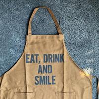 """限定発売 DRESSSEN    DAY USE W POCKET  APRON   WPAB10 """" EAT、DRINK  AND SMILE ※正面に二つのポケットがございます"""