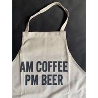 """⭕️[新型エプロン] DRESSSEN    WPASB4 DAY USE W POCKET  APRON   """"AM COFFEE  PM BEER""""※こちらの色はサンドベージュです"""
