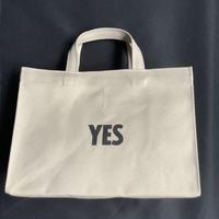 "DRESSSEN  MBAXS2 MARKET  BAG [XーSMALL]""YES/NO THANK YOU""NOには➖線があります。 (サンドベージュカラー)"