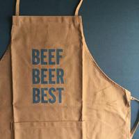 "⭕️ DRESSSEN DR(BRN) APRON  "" BEEF BEER BEST  ""  BROWN  COLOR"