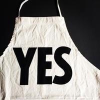 """[4月新発売]DRESSSEN ADULT APRON #12"""" YES"""" ⭕️新デザイン(裏側にNO THANKYOU プリント入り)"""