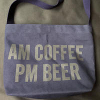 "⭕️新色  DRESSSEN DBN5 ""AM COFFEE PM BEER"" SHOULDER BAG  NAVY COLOR"