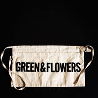 "DRESSSEN LW15 LOWER WALL APRON  ""GREEN&FLOWERS""(腰巻きエプロンです)"