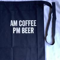 "DRESSSEN LWL NV4 ""AM  COFFEE PM BEER""(腰巻きエプロンです)  ダークネイビー"