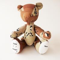 DRIBBLE ミルスペック カモ テディベア / チョコレートチップパターン