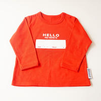 "DRIBBLE ""HELLO MY NAME IS"" ロングスリーブTシャツ / RED"