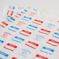 "DRIBBLE ""HELLO MY NAME IS"" Tシャツ / MULTI"