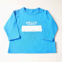 "DRIBBLE ""HELLO MY NAME IS"" ロングスリーブTシャツ / BLUE"