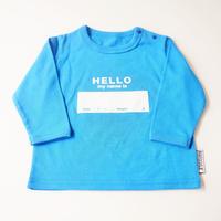 "DRIBBLE ""HELLO MY NAME IS"" ロングスリーブTシャツ / BLUE"