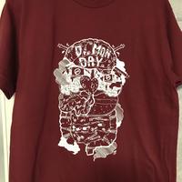 Dr.Monday- 臓器Tシャツ・バーガンディ