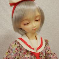 【SD/SD13】セーラーカラーワンピースセット レッド