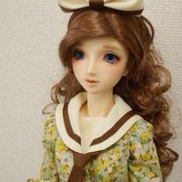 【SD/SD13】セーラーカラーワンピースセット ブラウン