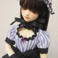 【MSD/SDM】ストライプワンピースセット ブラック