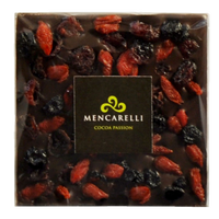 60% DARK CHOCOLATE AND DEHYDRATED FRUITS