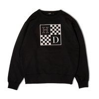 Checkered Crewneck Sweatshirt (Black)