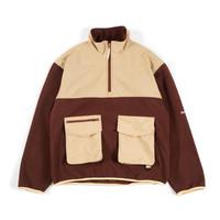 Utility Fleece Pullover / Brown - Beige