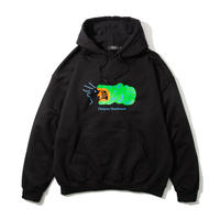Croc Hooded Sweatshirt (Black)